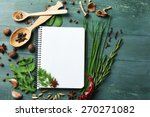 Open Recipe Book With Fresh...