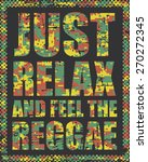 grunge reggae artwork for t... | Shutterstock .eps vector #270272345