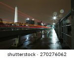 Washington Monument Lit Up At...