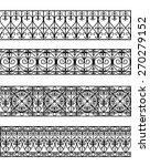vintage border set for design | Shutterstock .eps vector #270279152