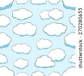 seamless pattern of clouds on... | Shutterstock .eps vector #270280655