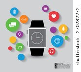 vector smart watch with apps... | Shutterstock .eps vector #270282272