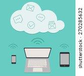 cloud computing service vector... | Shutterstock .eps vector #270285632