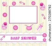 cute baby shower | Shutterstock .eps vector #270288782