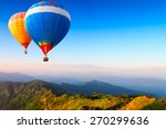 colorful hot air balloons... | Shutterstock . vector #270299636