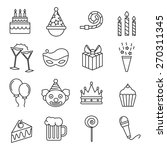 birthday icons | Shutterstock .eps vector #270311345