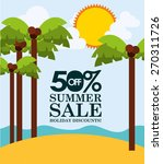 summer sale design  vector... | Shutterstock .eps vector #270311726
