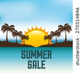 summer sale design  vector... | Shutterstock .eps vector #270314846