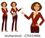 business girl | Shutterstock .eps vector #270319886