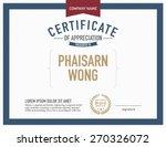 modern certificate template. | Shutterstock .eps vector #270326072