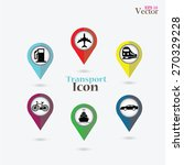 map pointer with transportation ...   Shutterstock .eps vector #270329228