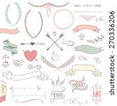 wedding graphic set  arrows ... | Shutterstock .eps vector #270336206