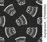 doodle cake seamless pattern...   Shutterstock . vector #270345002