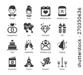 wedding icon set. included the... | Shutterstock .eps vector #270350636