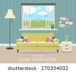interior of a living room.... | Shutterstock .eps vector #270354032