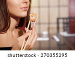 japanese cuisine. cropped view... | Shutterstock . vector #270355295