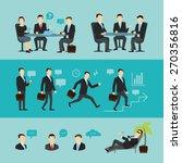 teamwork  interview end career. ...   Shutterstock .eps vector #270356816