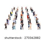 achievement idea standing... | Shutterstock . vector #270362882