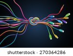 colorful cables with knot ... | Shutterstock .eps vector #270364286
