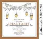 invitation card design for... | Shutterstock .eps vector #270370208