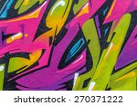 beautiful street art graffiti.... | Shutterstock . vector #270371222