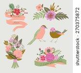 mother's day set  | Shutterstock .eps vector #270375872