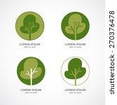 green tree logo. green circle... | Shutterstock .eps vector #270376478
