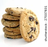 big cookies - stock photo