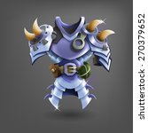 knight's steel armor. vector...