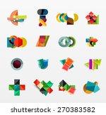 set of modern geometric... | Shutterstock .eps vector #270383582
