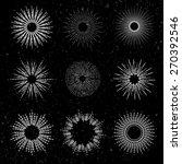 set of different sunbursts on... | Shutterstock .eps vector #270392546