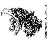 screaming bird black and white... | Shutterstock .eps vector #270393215