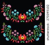 hungarian floral folk pattern   ... | Shutterstock .eps vector #270395102