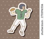football player  cartoon...   Shutterstock . vector #270396536