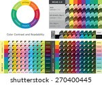color contrast and readability... | Shutterstock .eps vector #270400445
