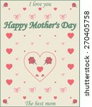 mothers day design over dotted... | Shutterstock . vector #270405758