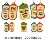collection of vintage tags or... | Shutterstock .eps vector #270408302