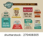 stylish vintage tags collection ... | Shutterstock .eps vector #270408305