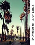 los angeles downtown park view... | Shutterstock . vector #270413816