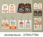 collection of vintage tags or... | Shutterstock .eps vector #270417782