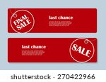 sale banner with place for your ... | Shutterstock .eps vector #270422966