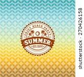 summer holidays illustration  ... | Shutterstock .eps vector #270426158