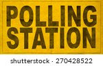 a polling station sign for an...   Shutterstock . vector #270428522