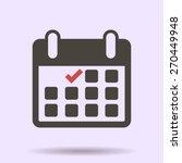 calendar flat icon   vector   Shutterstock .eps vector #270449948