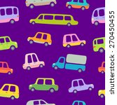 cartoon colorful cars seamless... | Shutterstock .eps vector #270450455