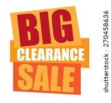 orange big clearance sale... | Shutterstock . vector #270458636