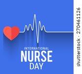 international nurse day concept ... | Shutterstock .eps vector #270461126