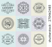 assorted retro design luxury... | Shutterstock .eps vector #270462485
