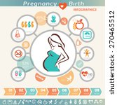 pregnant woman infographics and ... | Shutterstock .eps vector #270465512
