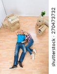 high angle view of young couple ... | Shutterstock . vector #270473732